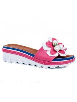 Дамски чехли Рали розово и синьо