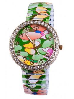 Зелена гривна часовник