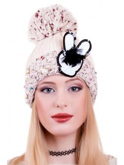 Бежова шапка Rabbit