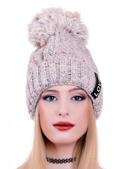 Сива шапка Love