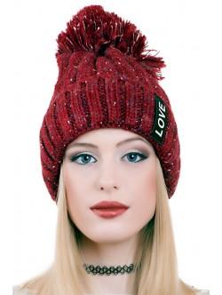 Червена шапка Love