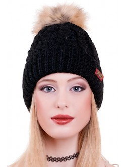 Черна дамска шапка 1987
