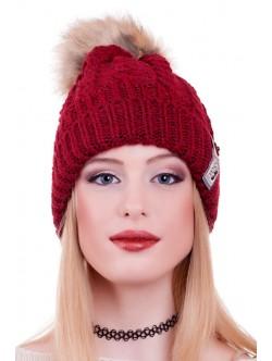 Зимна шапка Mear бордо