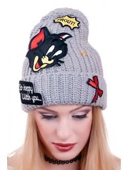 Сива дамска шапка Томи