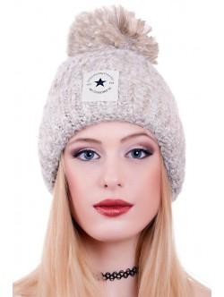 Бежова шапка Fashion