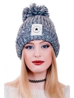 Сива шапка Fashion