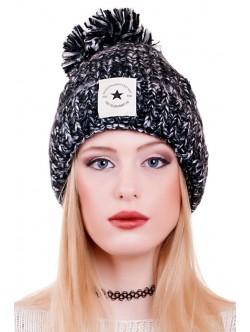 Черна шапка Fashion