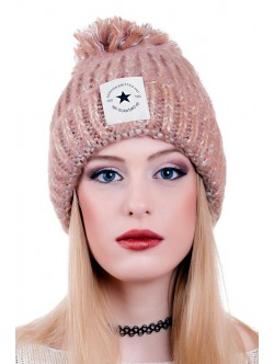 Кафява зимна шапк Fashion