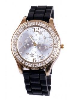 Черен силиконов часовник