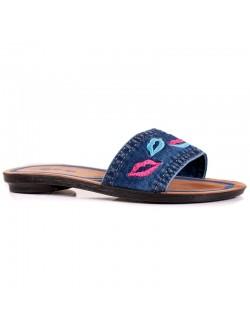 Дамски дънкови чехли