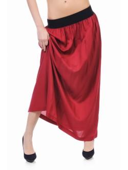 Червена дълга пола