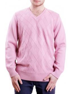 Розов мъжки пуловер