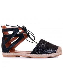 Дамски сандали с брокат