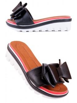 Черни чехли с панделка