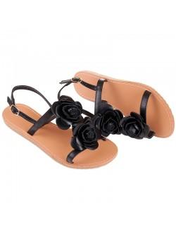 Ниски сандали с рози