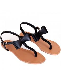 Дамски сандали с панделка