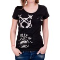 Черна тениска с ефектен гръб