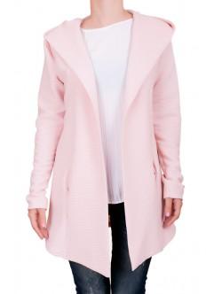 Дълго дамско сако цвят пудра