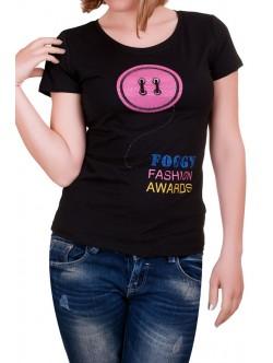 Черна дамска тениска Foggy