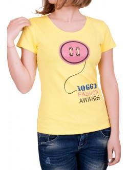 Жълта дамска тениска Foggy