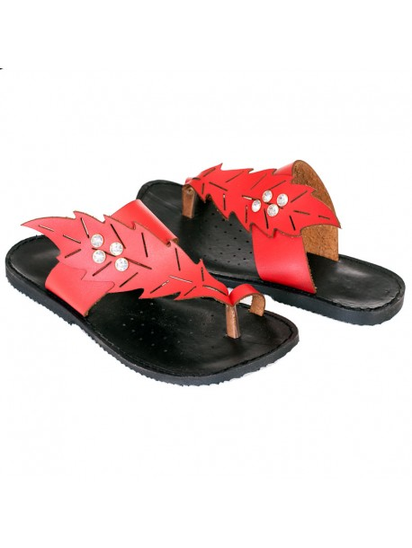 Червени чехли Лени