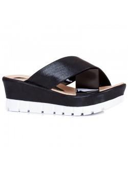 Черни високи чехли