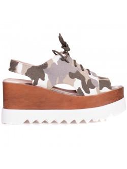 Дамски камуфлажни сандали
