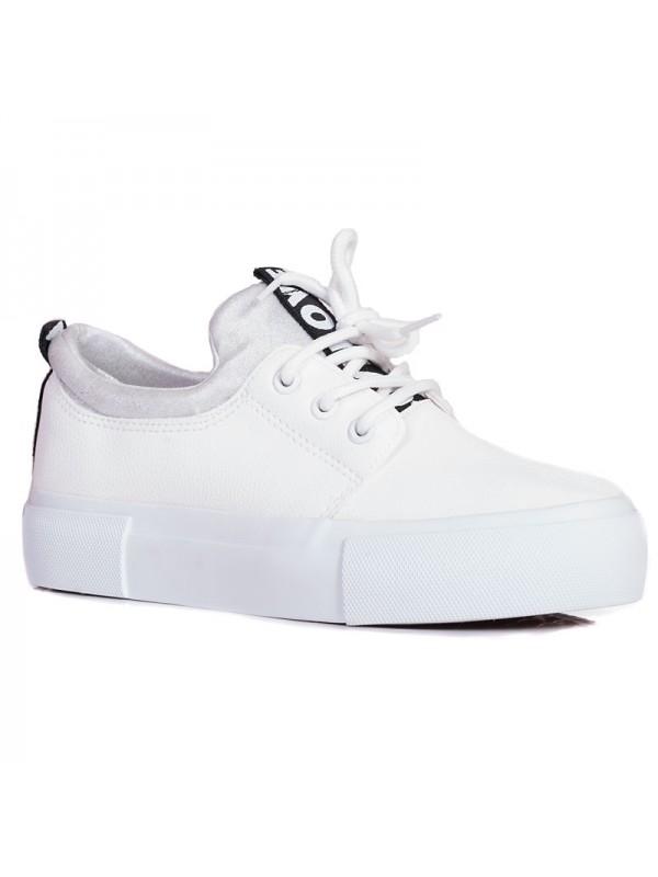 bb3a468d57b Бели дамски спортни кецове 02475 на топ цена - VODO