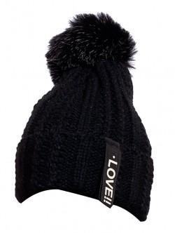 Зимна шапка за дами в черно Love