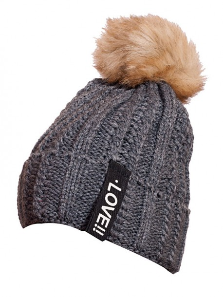 Зимна шапка за дами в сиво Love
