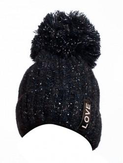 Зимна шапка за дами в тъмно синьо