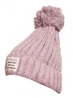 Дамска зимна шапка в цвят пепел от рози