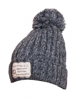 Дамска зимна шапка в тъмно сиво