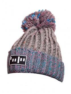 Зимна шапка в сиво и синьо