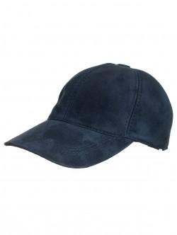 Синя велурена шапка