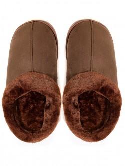 Мъжки пантофи за вкъщи - кафяви