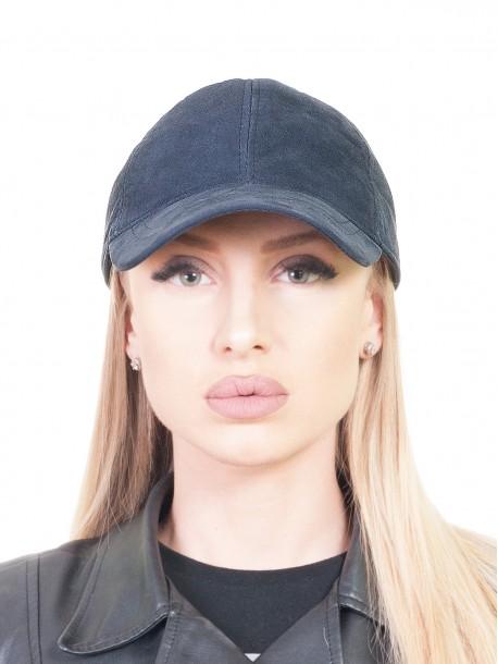 Дамска шапка с козирка - синя