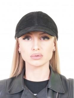 Дамска шапка с козирка - кожена