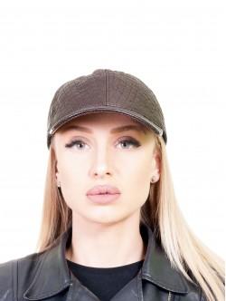 Дамска шапка с козирка - кафява