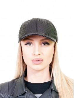 Кожена шапка с козирка за жени