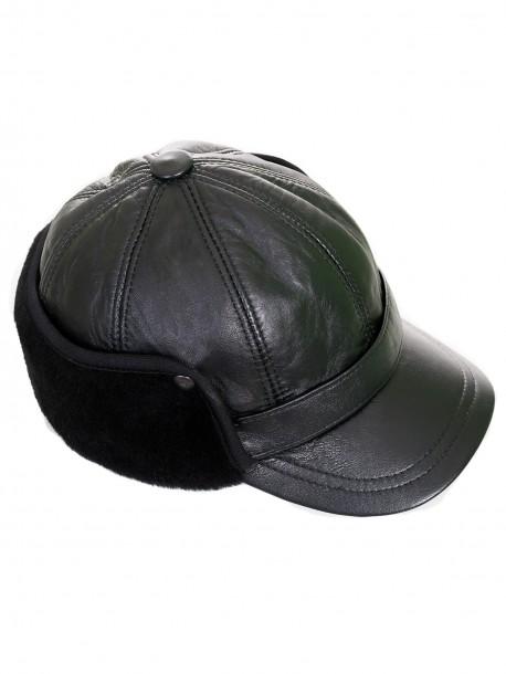 Кожена шапка с уши