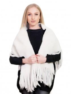 Дамски шал от естествена кожа
