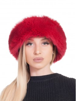 Дамски калпак лисица - червен и черно