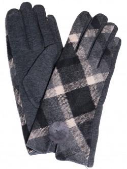 Дамски ръкавици Каре - сиви