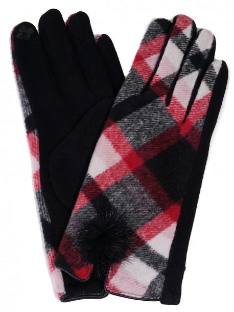 Дамски ръкавици Каре - черни