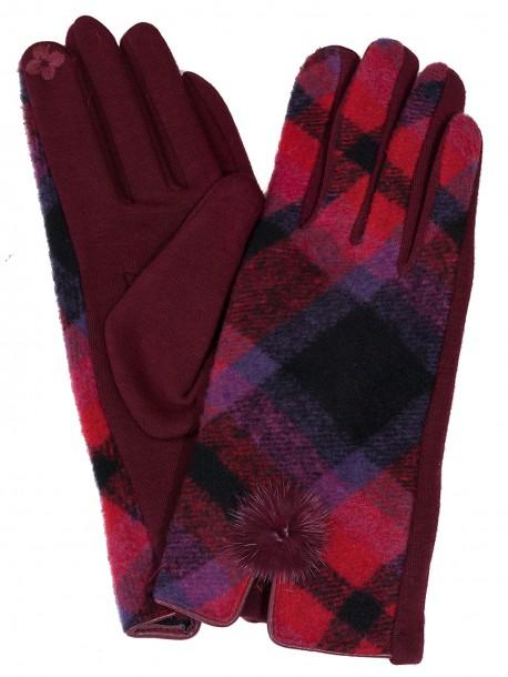 Дамски ръкавици Каре - бордо