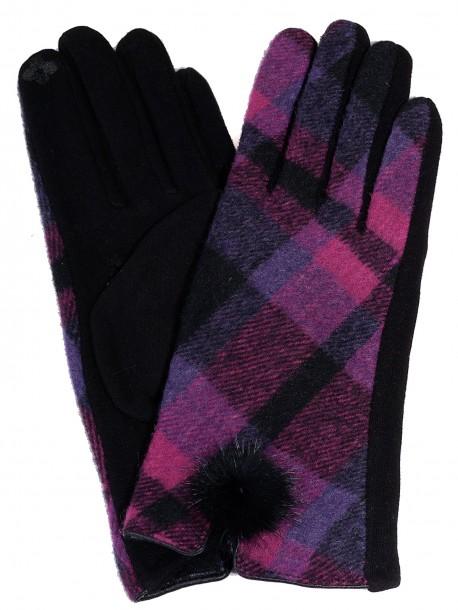 Дамски ръкавици Каре - циклама