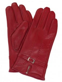 Кожени ръкавици - червени