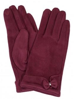 Дамски ръкавици - бордо