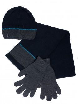 Шал, шапка и ръкавици за мъже